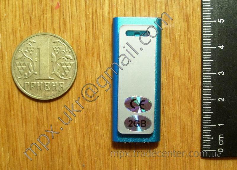 Относительные размеры MP3 плеера.