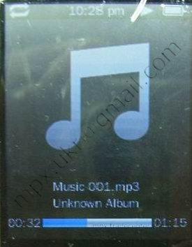 Раздел меню Music в копии ipod нано поколения 5.