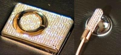 Алмазный iPod shuffle.
