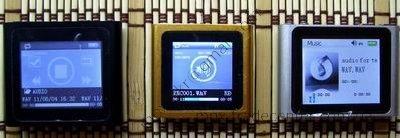 Раздел Music в китайских плеерах ipod nano 6g.