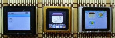 Раздел Extras в китайских плеерах ipod nano 6g.